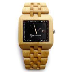 Bamboo Watch Black by Gloriousdays