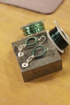 These are behind the scenes photos from the video shoot for Wire Coiling Secrets: Tips, Techniques, and Creative Jewelry Design with Kerry Bogert.