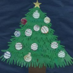 Christmas Bulletin Board made from student's hands.