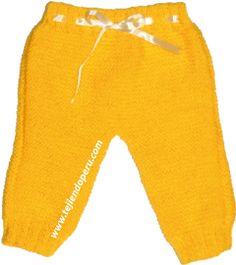 Pantalón para bebe - Tejiendo Perú Baby Pants, Knit Pants, Knitting For Kids, Parachute Pants, Sweatpants, Crochet, Ravelry, Dolls, Patterns