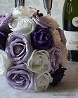 Artificial Bouquet of Mixed PURPLE Roses, Bridesmaid posy, wedding bouquet