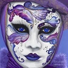 purple venetian masks - Google Search