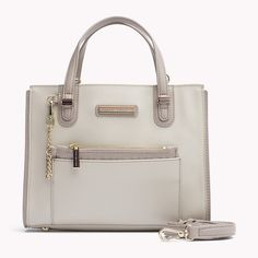 Tommy Hilfiger Cotton Canvas Small Tote - pumice stone / simple taupe (Brown) - Tommy Hilfiger Totes & Satchels - main image