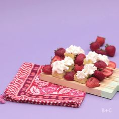 Watch this tabletop video tutorial dessert recipe to learn how to make Strawberry Kebobs.