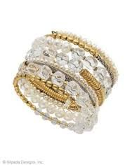 K&R Practical Pearls Bracelet- Glass. Glass Pearls, Swarovski Crystals, Brass. www.SASSYSTERLINSILVER.COM
