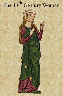 Clothing in the 13th century - useful to aid visualisation of what (some/most) women looked like in key ways