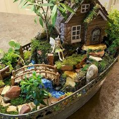 If you are looking for Indoor Fairy Garden Ideas, You come to the right place. Here are the Indoor Fairy Garden Ideas. This article about Indoor Fairy Garden Ide. Fairy Garden Pots, Indoor Fairy Gardens, Fairy Garden Houses, Gnome Garden, Miniature Fairy Gardens, Outdoor Gardens, Fairy Gardening, Fairies Garden, Garden Terrarium