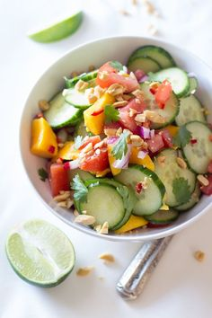 East African Cucumber & Mango Salad - so easy and different!