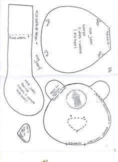 Bear Part 2 - Pattern Christmas Child Shoebox Ideas, Operation Christmas Child Shoebox, Craft Patterns, Doll Patterns, Sewing Patterns, Sewing Hacks, Sewing Projects, Teddy Bear Sewing Pattern, Stuffed Toys Patterns