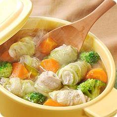 豚肉の白菜巻きポトフ(レシピNo.1492) ほくほく♪