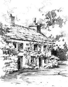 Pencil sketchbook drawing in Grasmere