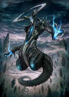 blue daemon by nekoemonn on DeviantArt Dark Fantasy Art, Fantasy Demon, Fantasy Beasts, Demon Art, Fantasy Artwork, Alien Concept Art, Creature Concept Art, Creature Design, Mythical Creatures Art