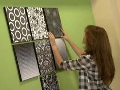 Mural con bastidores y papel   How to make wall murals.  She uses photocopies for the art.