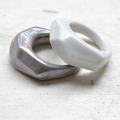 Krystalix RING bílý