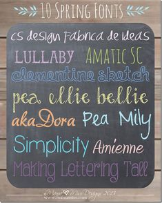 font love: 10 Spring Fonts ~~ 10 Free Fonts with Easy Links ~~