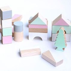 Spring Tone Wooden Blocks