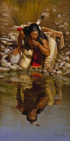 İndians Native American Paintings, Native American Wisdom, Native American Beauty, American Indian Art, Native American History, American Indians, Native Indian, Native Art, Pierre Brice