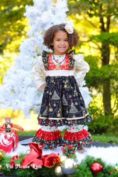 reserved for 09bundleofjoy09 christmas dress with ruffled pants and peasant top toddler girls red dress holiday dress pinkmousekids
