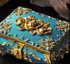 lüks masif ahşap aynalı var mücevher kutuları Kore avrupa tipi antik yollar geri prenses mücevher kutusu(China (Mainland))