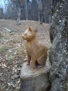 gatto intagliato a san lucio ( clusone )