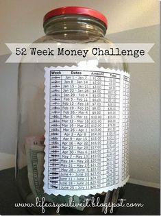 Mason Jar Money Challenge | Mason Jar Crafts Love
