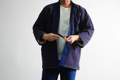 Other Shi-jin Hanten Kimono Jacket Male Kimono, Kimono Jacket, Rain Jacket, Bomber Jacket, Denim Jackets, Jin, Windbreaker, Sewing, T Shirt