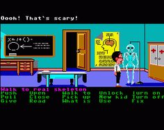 Maniac Mansion, Commodore 64 - Get into someone else house and steal