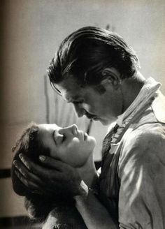 """'I could not love thee, Dear, so much, loved I not Honour more.'"" Scarlett & Rhett, Gone With The Wind (1939)"