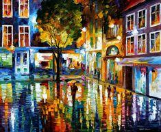 STRIP MALL - PALETTE KNIFE Oil Painting On Canvas By Leonid Afremov http://afremov.com/STRIP-MALL-PALETTE-KNIFE-Oil-Painting-On-Canvas-By-Leonid-Afremov-Size-30-x36.html?bid=1&partner=20921&utm_medium=/vpin&utm_campaign=v-ADD-YOUR&utm_source=s-vpin
