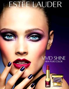 Estée Lauder Pure Color Violet Underground Makeup Collection For Fall 2012 Eye Makeup Steps, Natural Eye Makeup, Blue Eye Makeup, Makeup For Brown Eyes, Makeup Tips, Makeup Ideas, 80s Makeup, Bright Makeup, Colorful Makeup