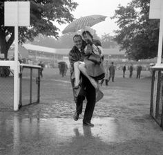 Royal Ascot 1964 - typical English weather! #ascot #vintage