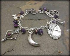 Diana s Magick charn bracelet Goddess wicca by SpellboundOriginalz