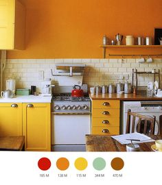 the colors for this kitchen are maybe my favorite combination ever.  second is bright red, light blue, and golden yellow.