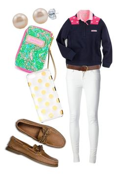 Shep shirt by carlycakes2000 on Polyvore featuring polyvore, fashion, style, J.Crew, J Brand, Sperry Top-Sider, BERRICLE, Kate Spade, Warehouse, Vineyard Vines and Lilly Pulitzer