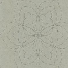 56 sq. ft. Charlotte Silver Modern Floral Wallpaper-301-66917 - The Home Depot