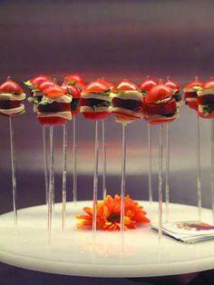 Elegant appetize lollipops-- Eatertainment Catering