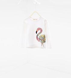 ZARA - SALE - Flamingo sweatshirt