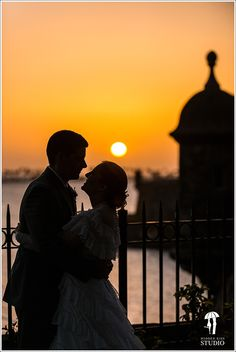 Beautiful sunset at Old San Juan.  #WeddingCeremony #OldSanJuanWedding #DestinationWedding WeddingsinPuertoRico