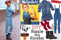 Rosie the Riveter  Halloween, How To, DIY, costumer ideas, fashion, blogger, Vida Fashionista