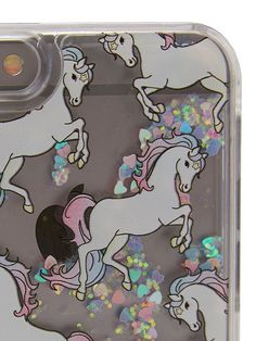 Skinnydip London glitter unicorn phone case