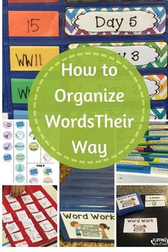 This is amazing for organizing Words Their Way! It also has a ton of freebies! First Grade Words, First Grade Reading, Second Grade, Grade 2, Fourth Grade, Grade Spelling, Spelling Words, Spelling Ideas, Spelling Centers
