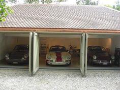 Garage Design: Out-swing garage doors....