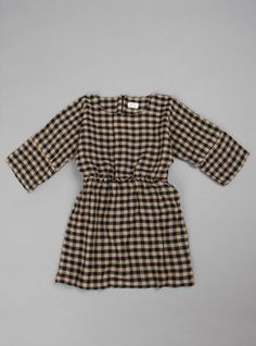 Couverture and The Garbstore - Childrens - Morley - Check Virgin Wool Dress