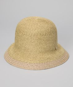 Take a look at this Natural Hiromi Hat by Grace Hats on #zulily today! $18.99