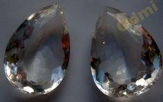 Кристалл  капля шикарный 75,85 кт хрусталь гор