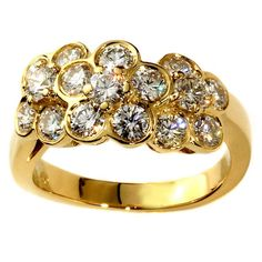 Van Cleef & Arpels Fleurette Diamond Gold Ring