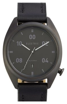 Electric 'OW01' Leather Strap Watch