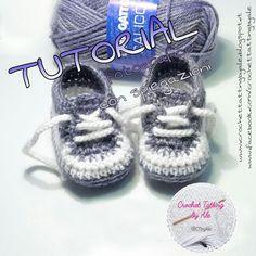 ♡ Crochet Tatting by Ale ♡ Crochet Slipper Boots, Crochet Baby Boots, Knitted Booties, Crochet Shoes, Crochet Baby Hat Patterns, Crochet Vest Pattern, Crochet Flower Hat, Baby Patterns, Baby Shoes Tutorial