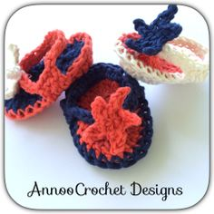 4th Of July Baby sandals Free Tutorial  By AnnooCrochet Designs