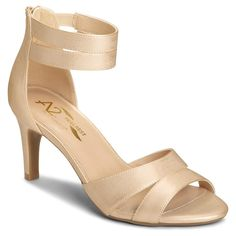 Women's A2 by Aerosoles Proclamation Cross Strap Heeled Sandals - Gold 6